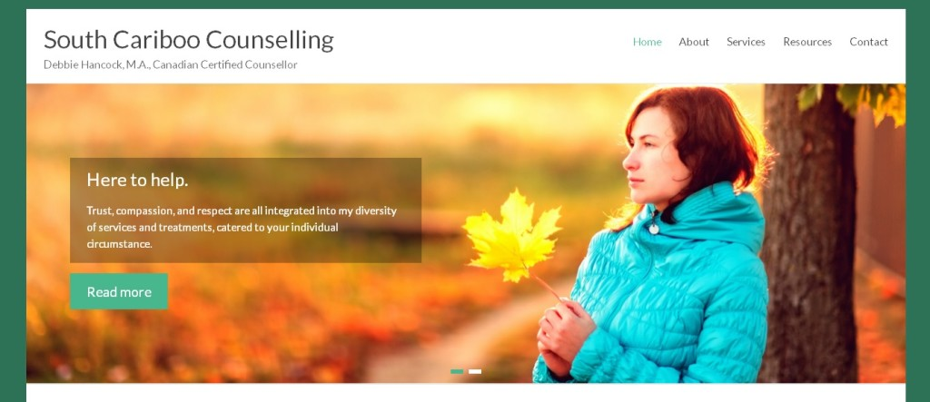 Website for South Cariboo Counselling